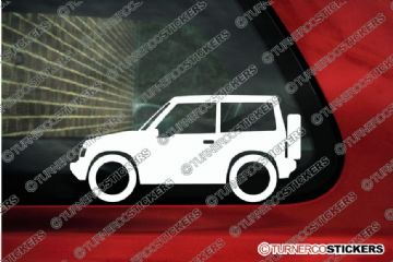 2x Suzuki Sidekick / Vitara 2-Door Hardtop (1989-1998) 4x4 outline stickers